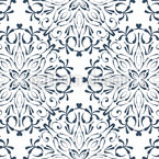Lace Blossoms Seamless Vector Pattern Design