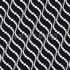 Wavy Dots Black Seamless Pattern
