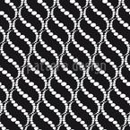 Wellige Punkte Schwarz Nahtloses Muster