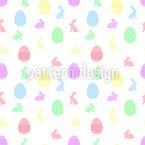 Wo Sind Die Eier Nahtloses Vektormuster