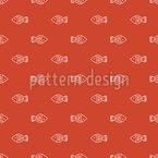Einfache Fisch Bande Nahtloses Muster