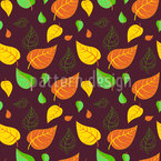 A Lil Bit Of Autumn Seamless Vector Pattern Design