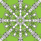 Floral Wheel Pattern Design