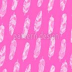 Kunstvolle Federn Nahtloses Vektor Muster
