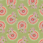 Paisley-Fantasie-Blumen Rapportmuster