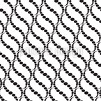 Wavy Dots On White Seamless Vector Pattern Design