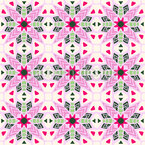 Floral Illusions Seamless Pattern