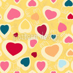 Chaotic Hearts Seamless Vector Pattern