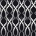 Black And White Pearls Seamless Vector Pattern Design