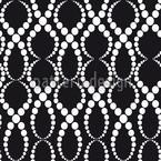 Schwarz-Weisse Perlen Nahtloses Vektormuster
