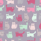 Hy There Kitty Repeating Pattern