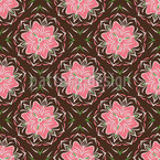 Blumen Symmetrie Nahtloses Vektormuster