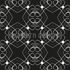 Verschlungene Linien Nahtloses Muster