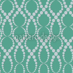 Emerald Pearls Seamless Vector Pattern Design