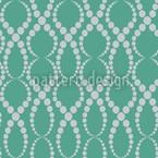 Smaragd Perlen Nahtloses Vektormuster