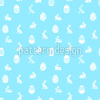 Easter Egg Hunting Seamless Vector Pattern Design