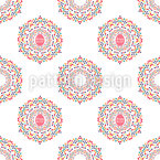 Easter Mandalas Vector Ornament