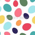 Easter Egg Silhouettes Vector Pattern