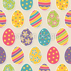 Decorated Easter Eggs Seamless Vector Pattern Design