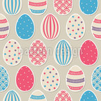 Easter Egg Painting Fun Repeat Pattern