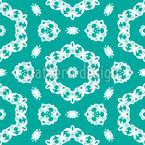 Well Behaving Curved Flowers Seamless Vector Pattern Design