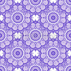 Liebliches Florales Mandala Nahtloses Vektormuster
