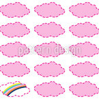 Rainbows And Clouds Seamless Vector Pattern Design