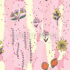 Gemalte Flora Nahtloses Vektormuster