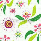 Asiatische Blumen Nahtloses Vektormuster