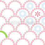 Floral Rising Suns Vector Ornament
