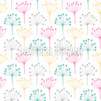 Simple Dill Silhouettes Repeating Pattern