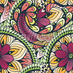 Floral Paisley Mandala Muster Design