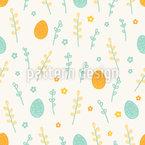Frühlingshaftes Osterfest Muster Design