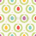Easter wreathes Seamless Vector Pattern Design