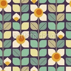 Flowers From The Past Seamless Vector Pattern Design