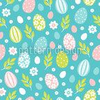 Ostereier im Frühjahr Vektor Ornament