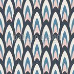 レトロな楕円 シームレスなベクトルパターン設計