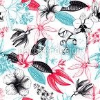 Flores de Amor Perfumadas Design de padrão vetorial sem costura