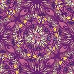 Amorous Rosette Seamless Vector Pattern Design