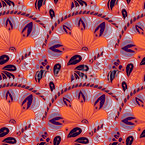 Botanical Fan Repeating Pattern