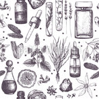 Parfümerielabor Musterdesign