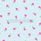 Lluvia de rosas Estampado Vectorial Sin Costura