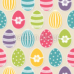 Polka Dot-Easter Eggs Seamless Vector Pattern Design