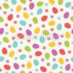 Burst Of Easter Eggs Seamless Vector Pattern Design