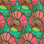 Wonderland Poppy Seamless Pattern
