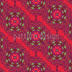 Diagonal Floral Stripes Vector Pattern
