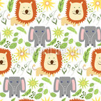 Friendly Africa Seamless Vector Pattern Design