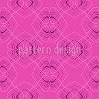 Sedução Nouveau Design de padrão vetorial sem costura
