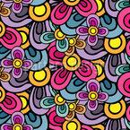 Blüten Komposition Nahtloses Vektormuster