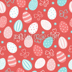 Flying Easter Eggs Repeat Pattern